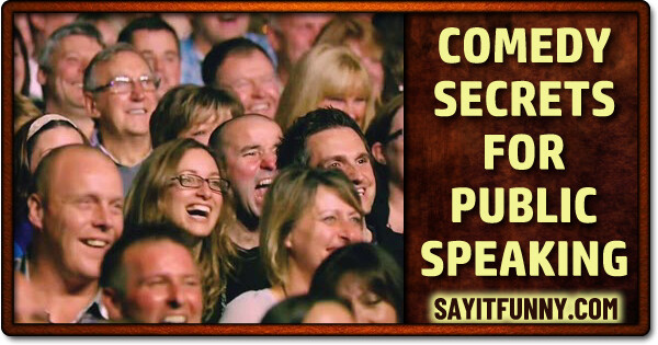 funny public speaking vs. stand-up comedy